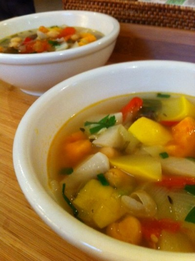 a picture of Jill's homemade barley soup