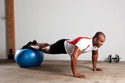 Exercise at Home with the Swiss Fitness Ball