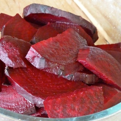 chopped cooked red beets