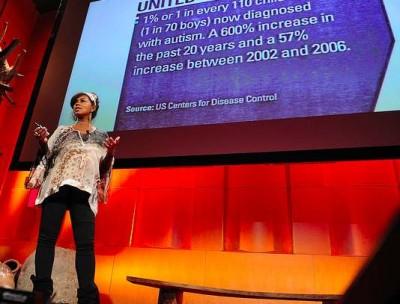 photo of Penelope Jagessar Chaffer giving a talk