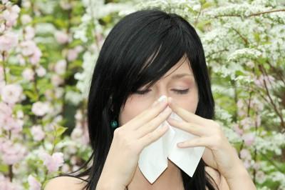 woman sneeze allergies