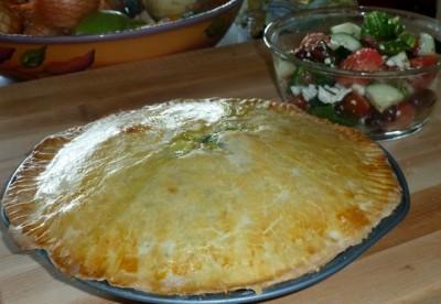 Photo of leafy green pie