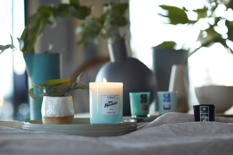 Peaceful candle burning
