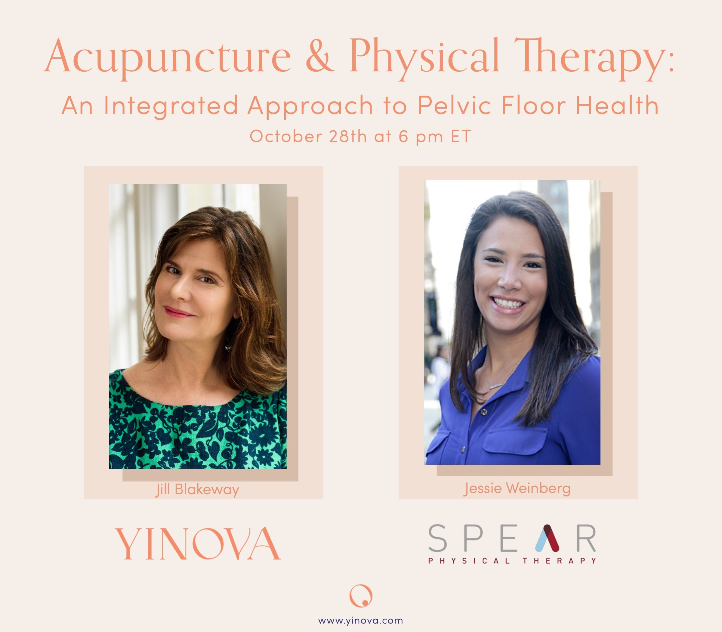 Yinova and Spear Physical Therapy Event Graphic