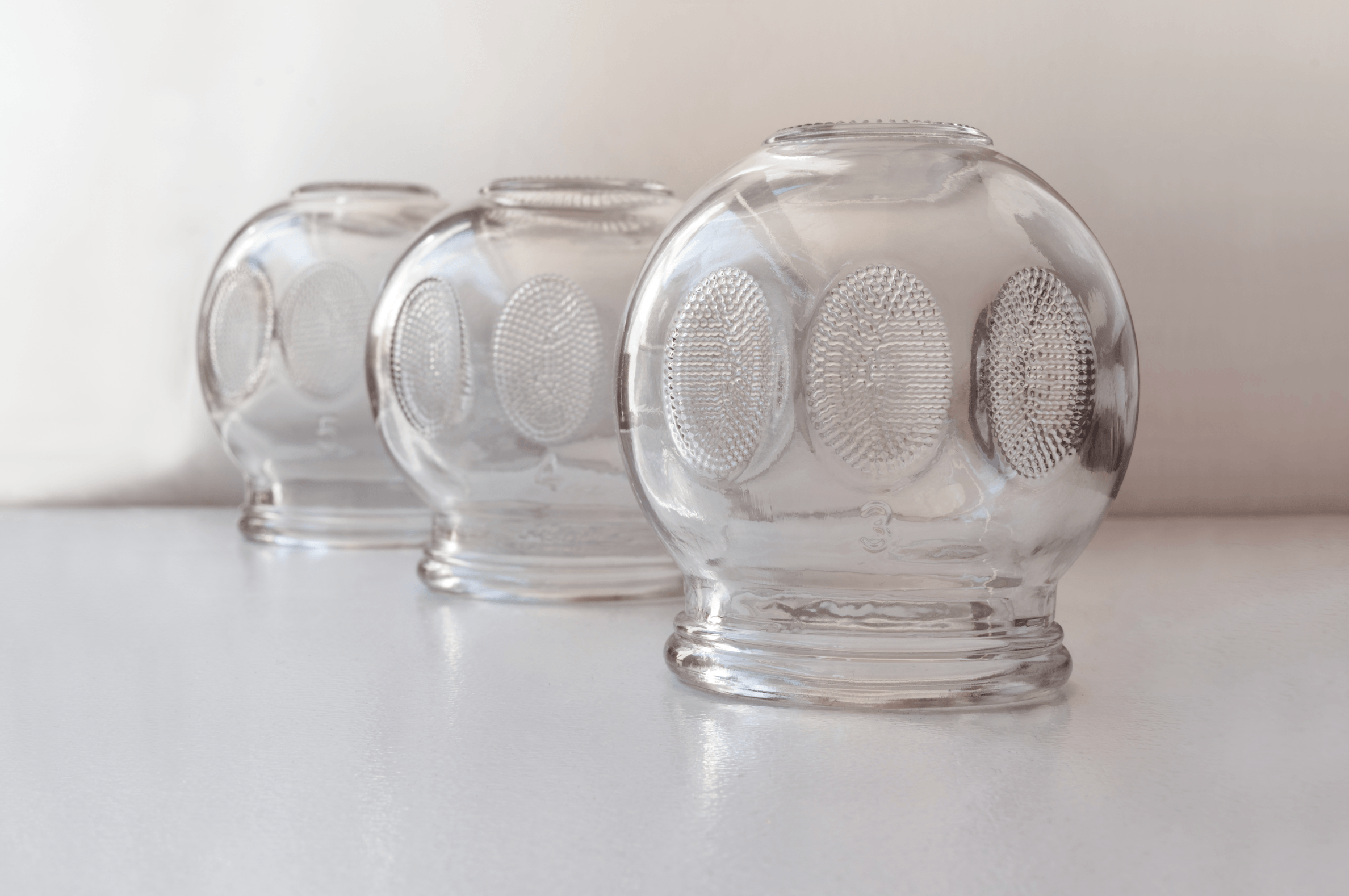 Classical Glass cups used in chinese medicine